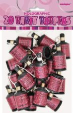 20 Pink Glitz Party Poppers